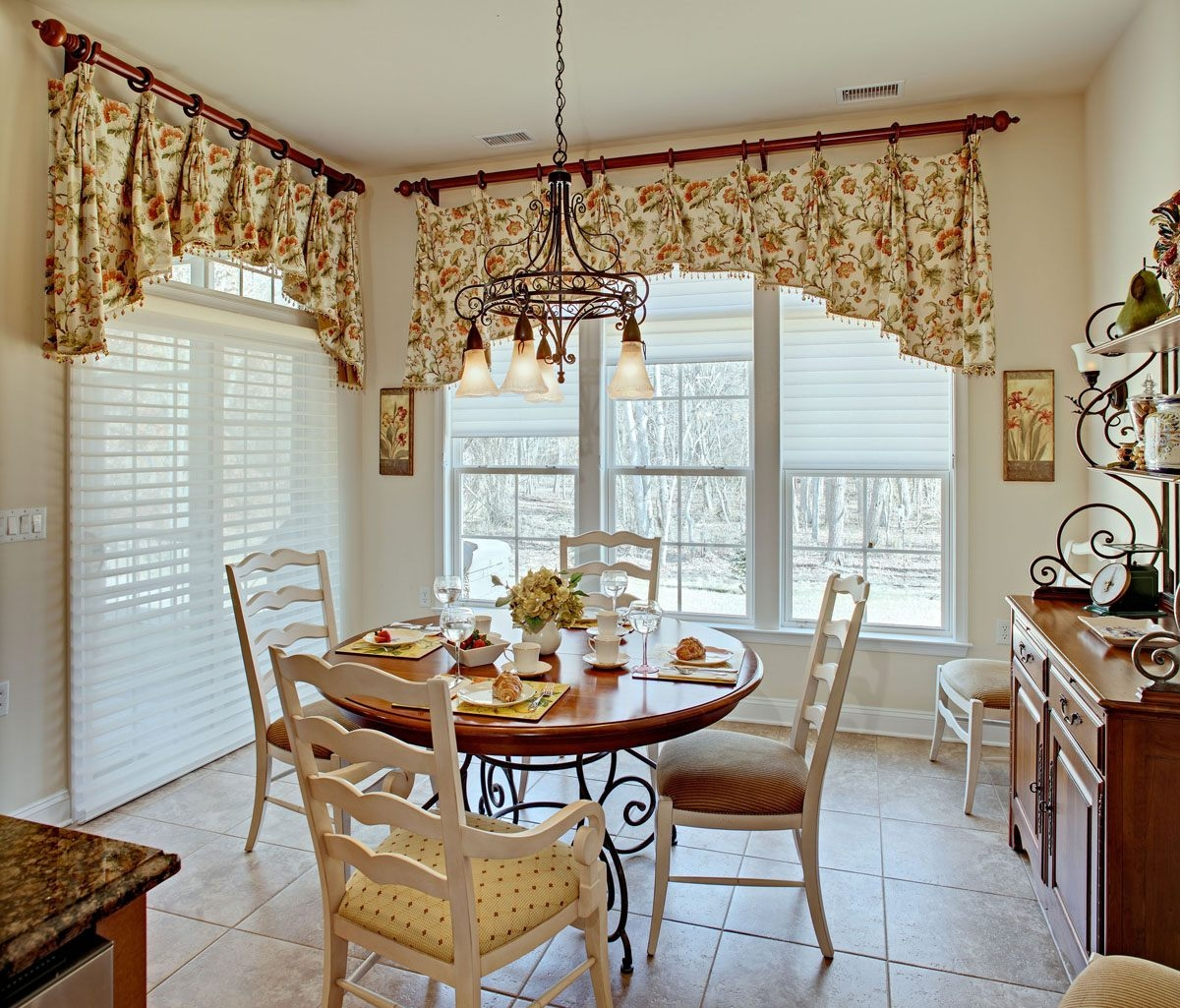 Down To Earth Style Eat Fresh Kitchen Valance Like The Mug Hooks For Valance Curtain Ideas (Image 14 of 25)