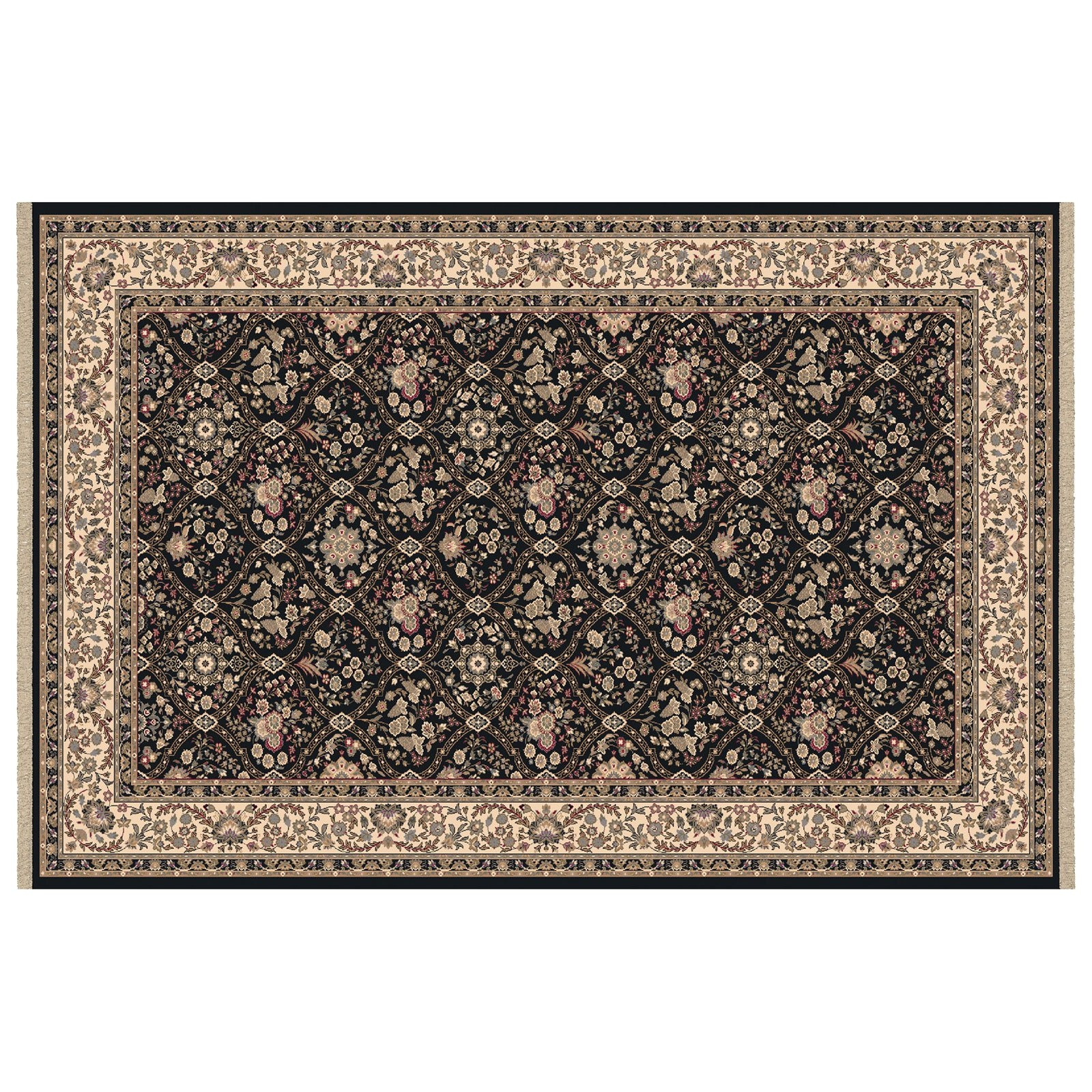 Dynamic Rugs Brilliant Collection Wool Hearth Rug Black Onyan In Hearth Rugs (Image 3 of 15)