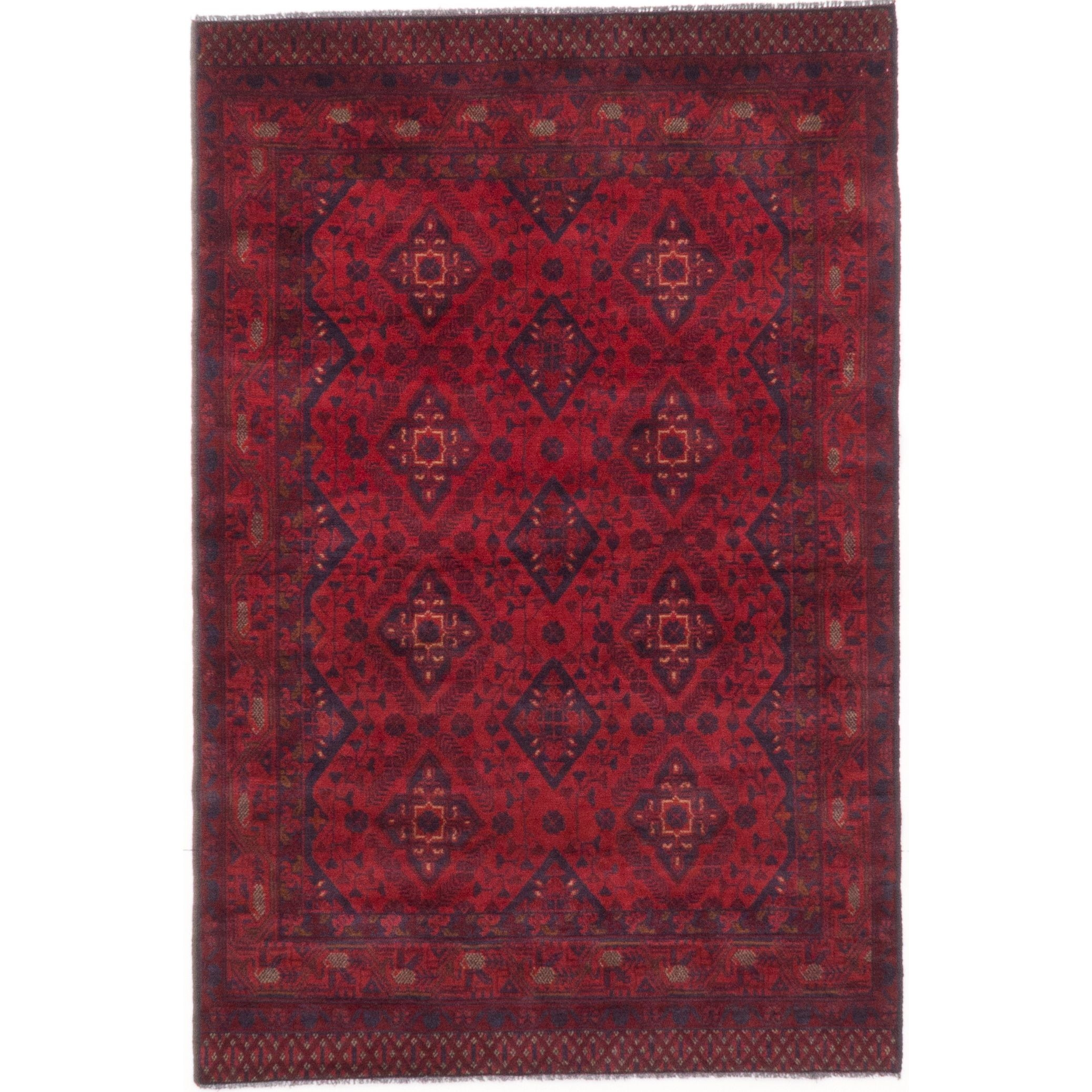 Ecarpetgallery Hand Knotted Finest Khal Mohammadi Red Wool Rug 4 Pertaining To Red Wool Rugs (View 9 of 15)