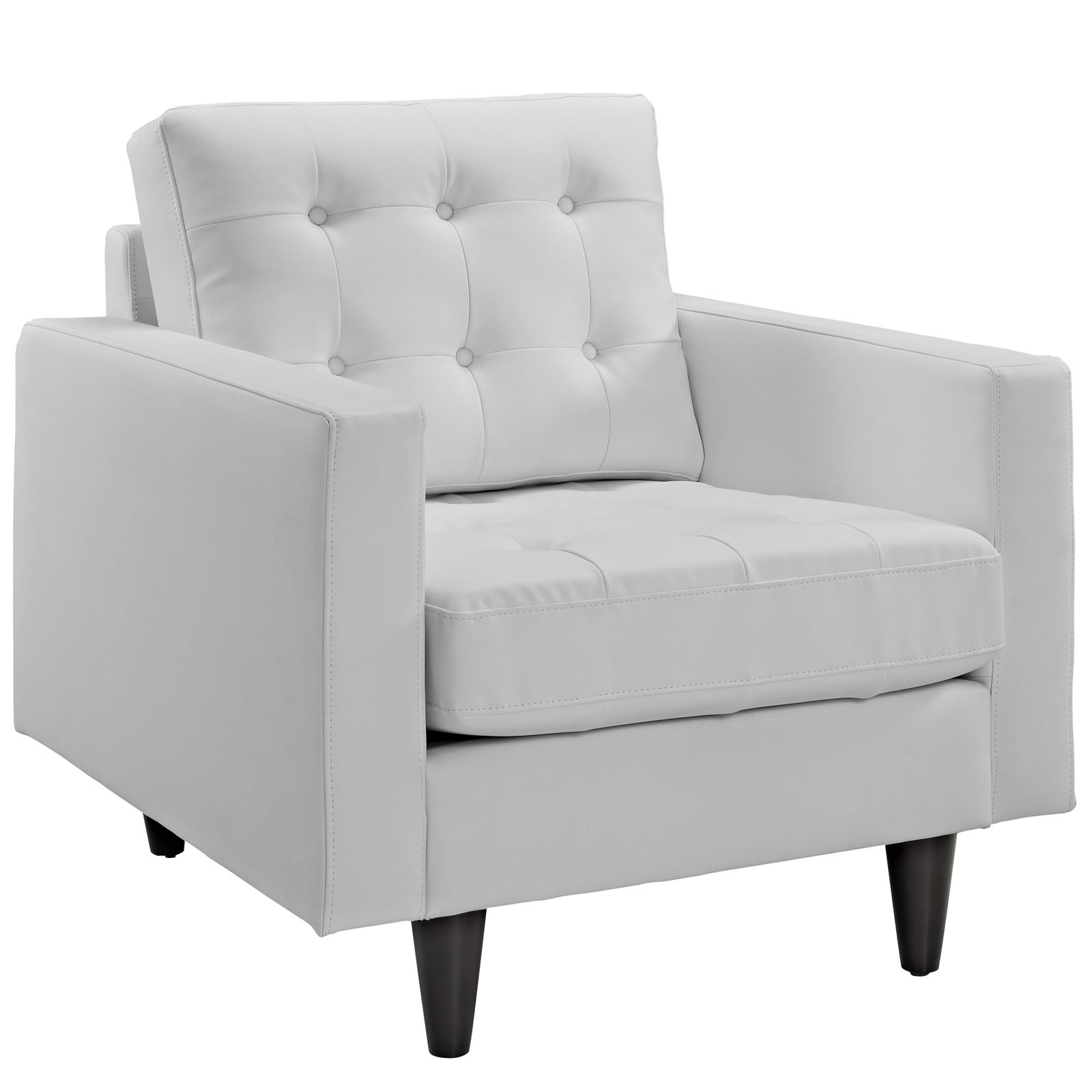 Eei 1012 Whi Within White Sofa Chairs (Image 3 of 15)