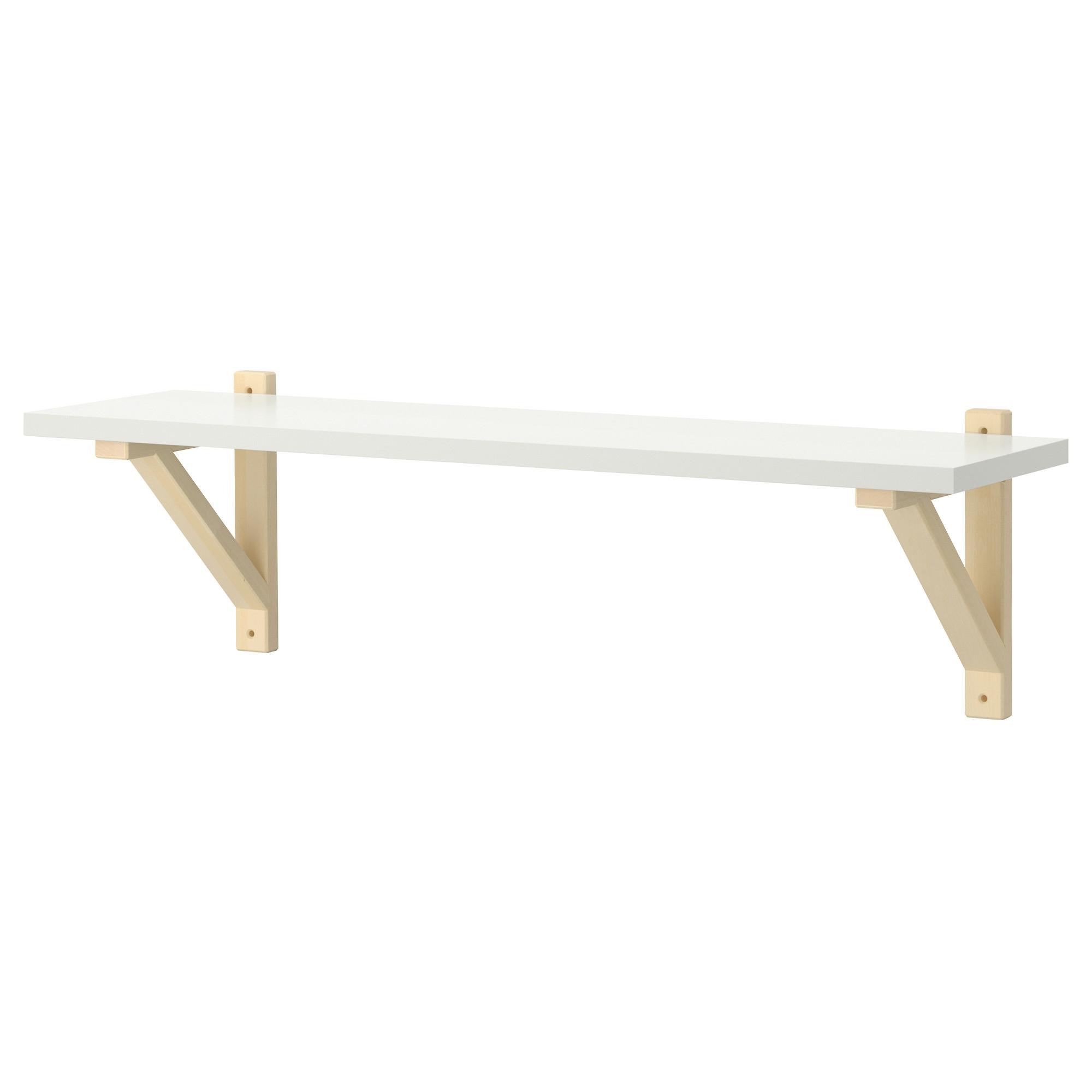 Ek Valterek Sten Wall Shelf Whitebirch 79×19 Cm Ikea In Wall Shelf (View 4 of 15)