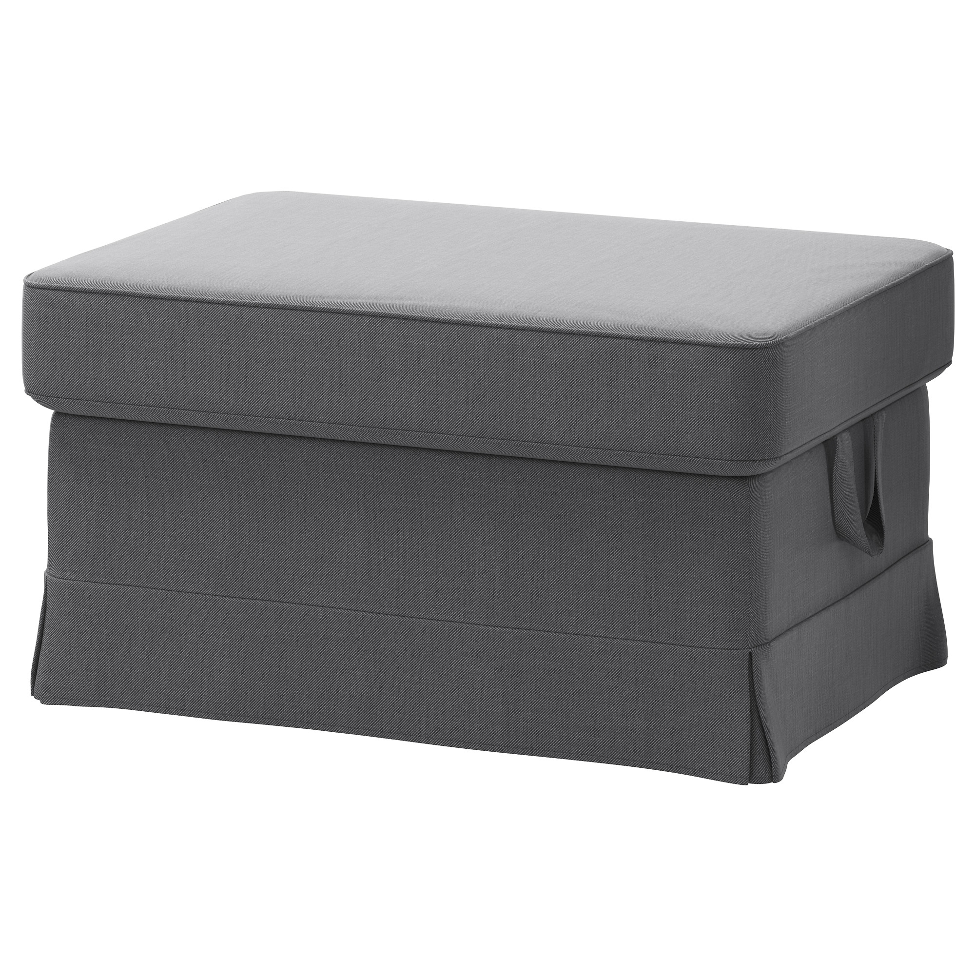 Ektorp Footstool Nordvalla Dark Grey Ikea With Ikea Footstools And Pouffes (Image 3 of 15)