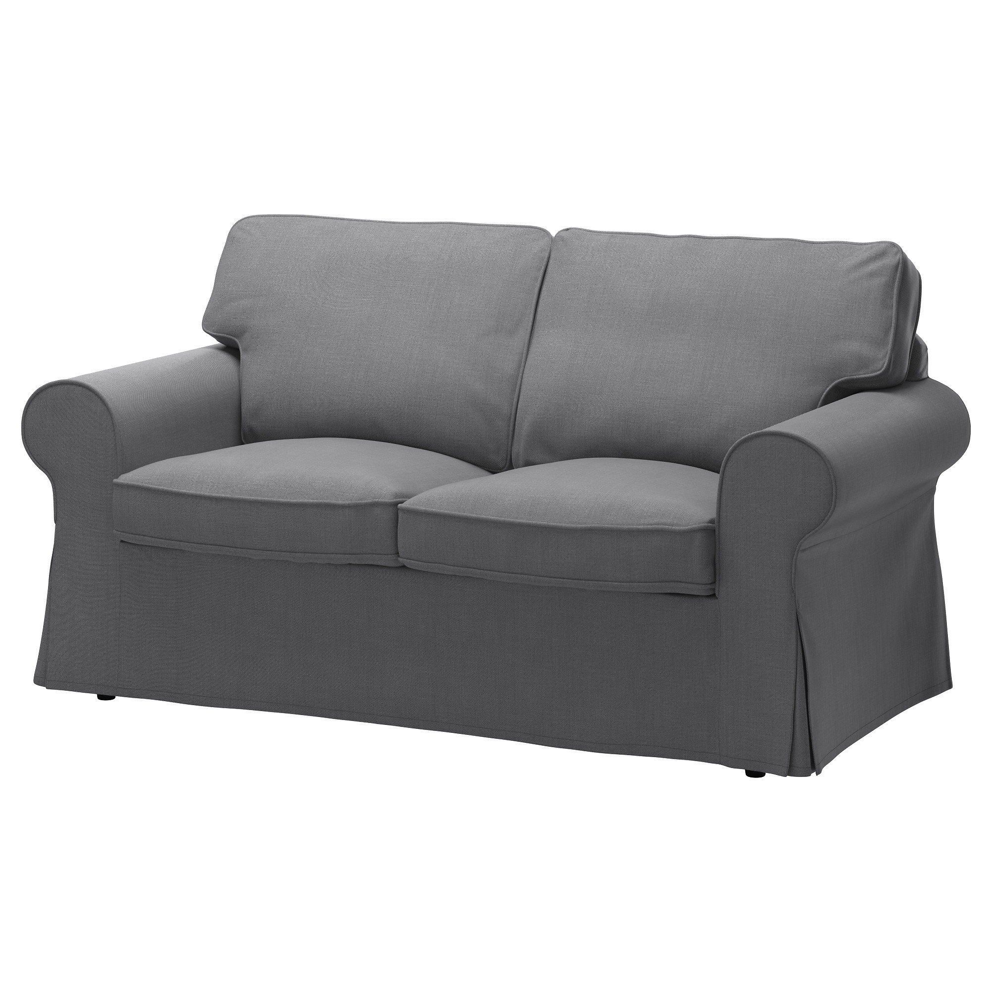 Ektorp Loveseat Cover Nordvalla Dark Beige Ikea Regarding Sofa With Removable Cover (Image 5 of 15)
