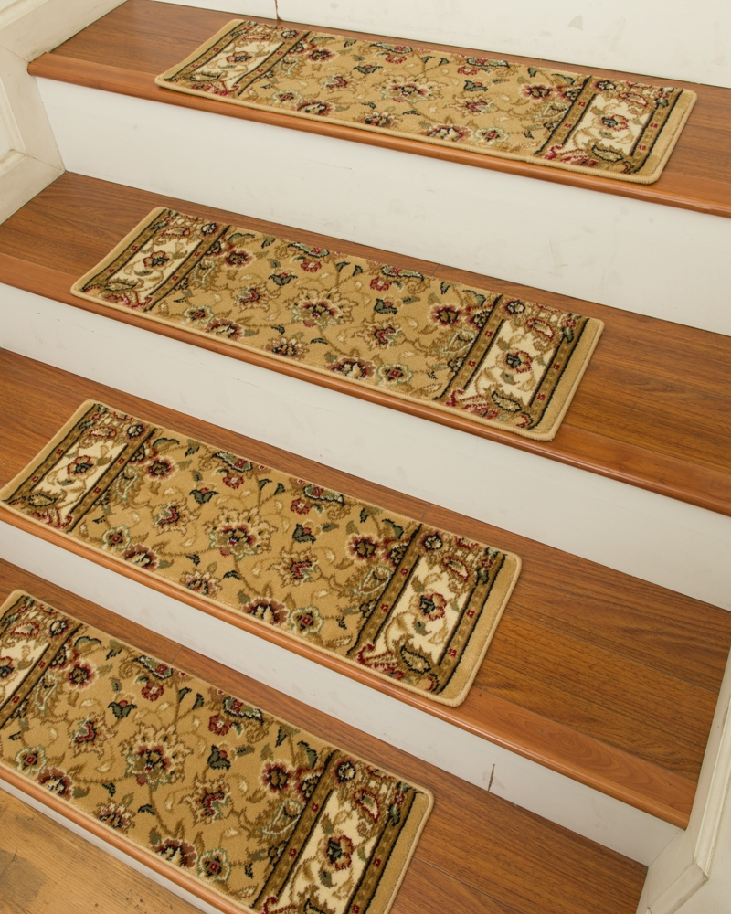 Elise Carpet Stair Treads Set Of 13 Intended For Carpet Stair Treads Set Of 13 (Photo 10 of 15)