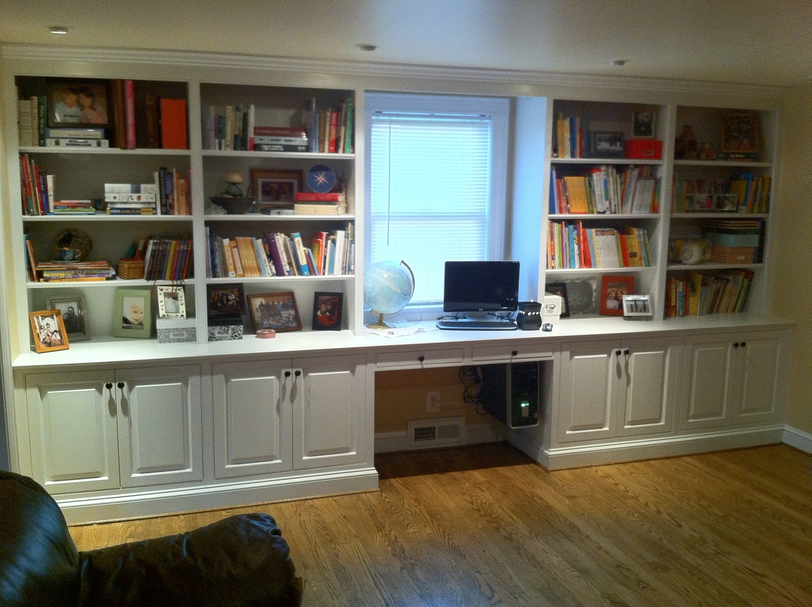 Engaging White Stained Double Bookshelf With Cabinet Base Plus With Bookshelf With Cabinet Base (Image 11 of 15)