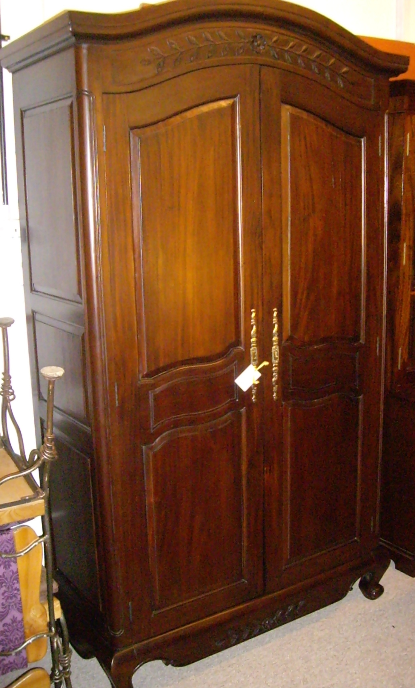 English Scottish Antique Furniture Decorative Antiques With Regard To Solid Dark Wood Wardrobes (Image 6 of 15)