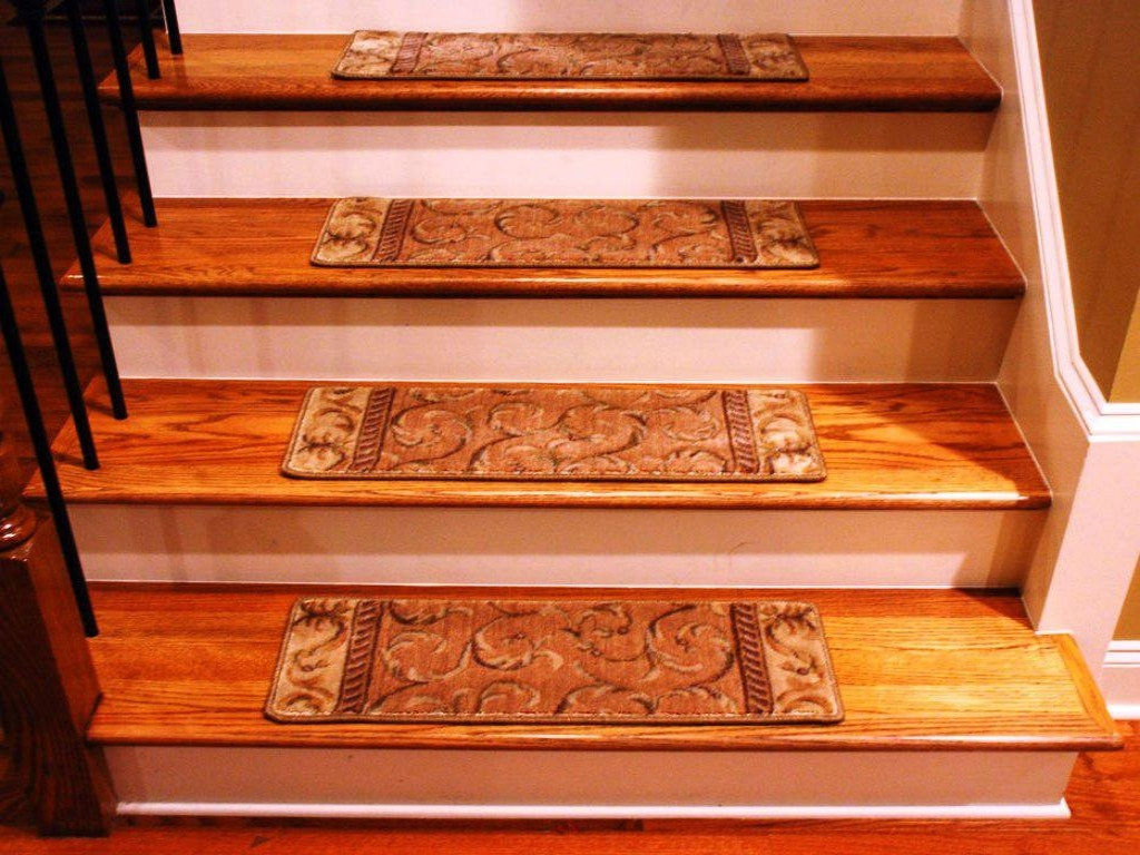Enhance Your Staircase With Stair Carpet Stair Constructions Pertaining To Rustic Stair Tread Rugs (Image 11 of 15)