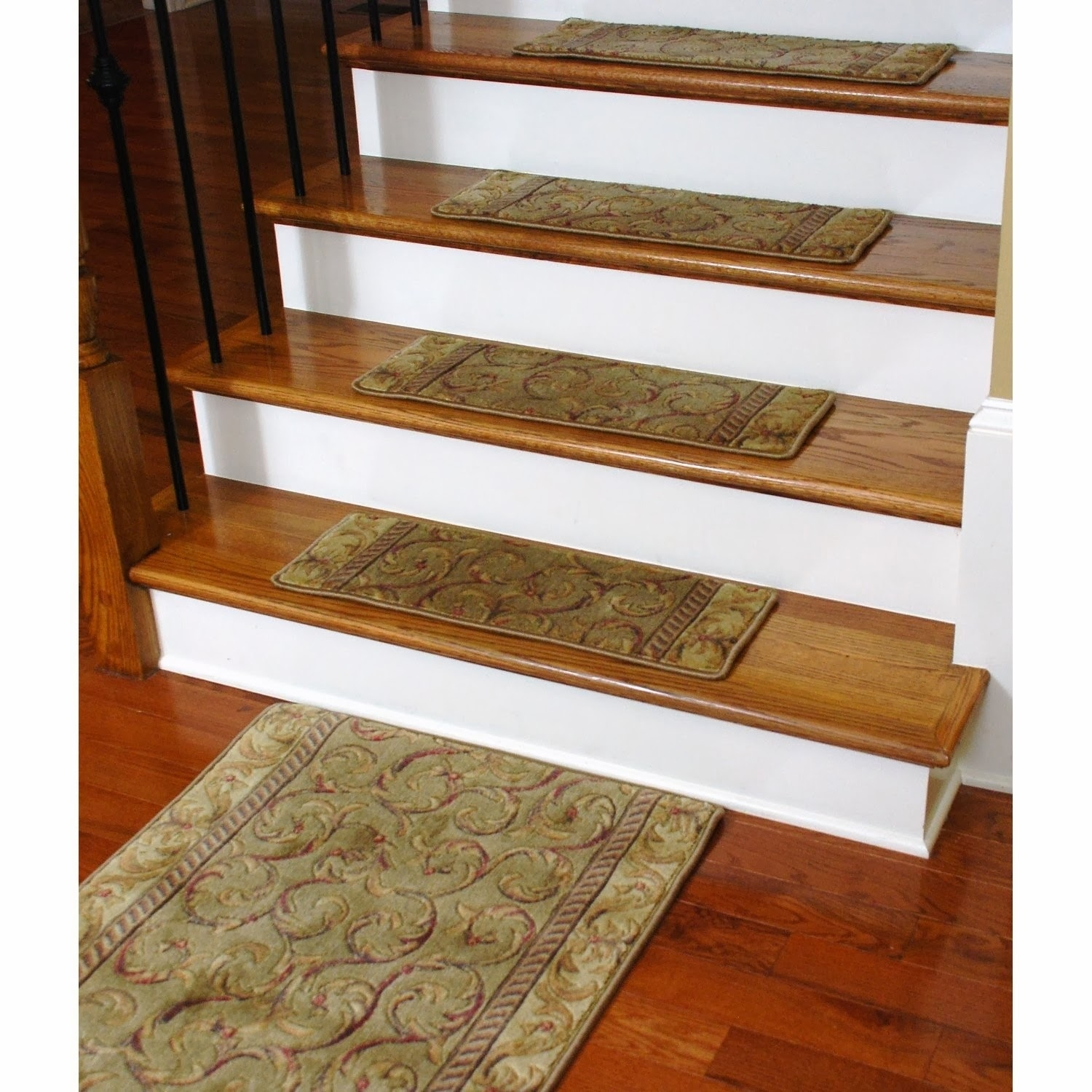 Entry Mudroom Wondrous Carpet Stair Treads With Classic Colors Within Stair Tread Rug Pads (Image 5 of 15)