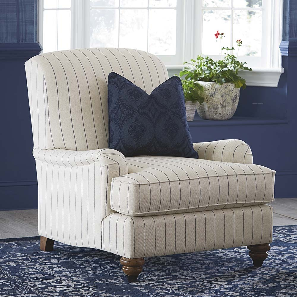 Essex Upholstered Accent Chair Bassett Home Furnishings Within Accent Sofa Chairs (Image 9 of 15)