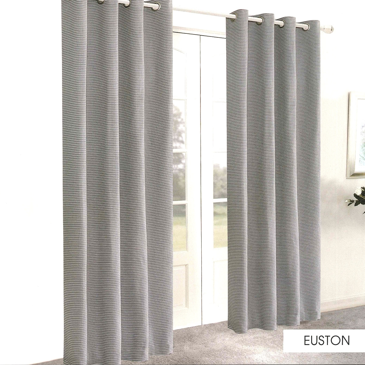 Euston Grey Ready Made Eyelet Curtains Harry Corry Limited In Grey Eyelet Curtains (Image 7 of 25)