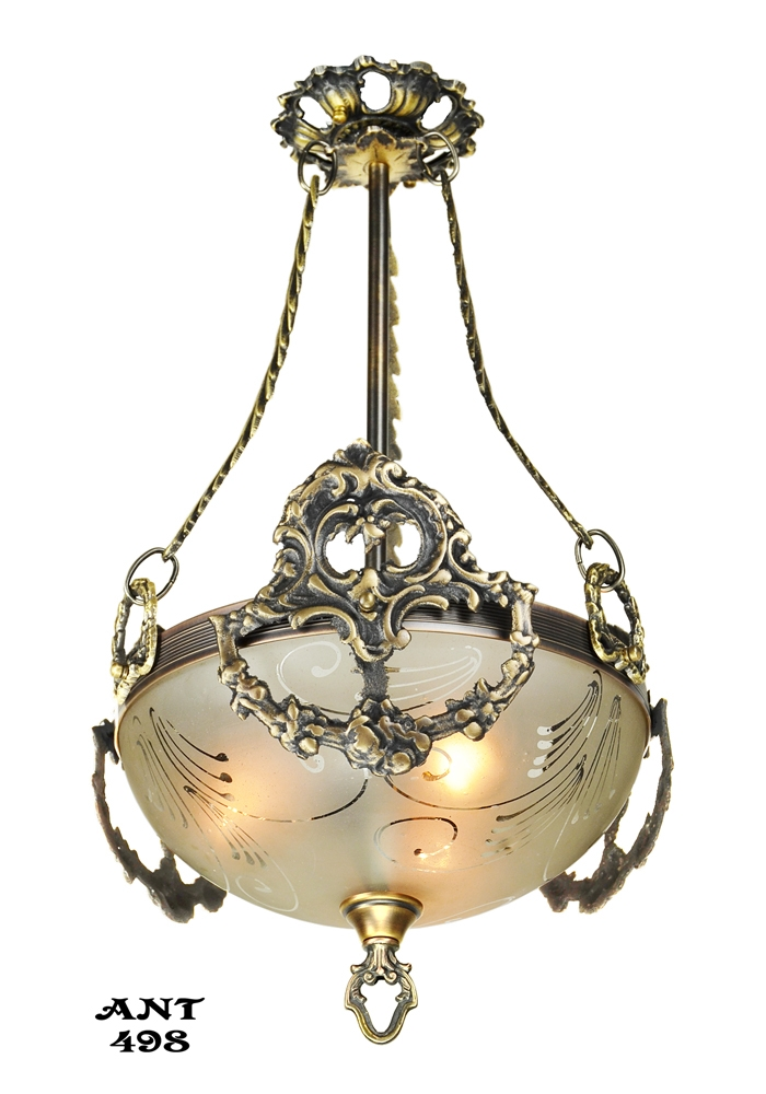 Excellent Best Edwardian Pendant Lights Pertaining To Vintage Hardware Lighting Antique Edwardian Ceiling Bowl (Image 8 of 25)