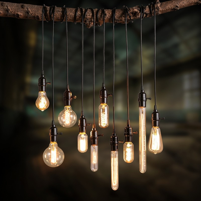 Excellent Best Industrial Bare Bulb Pendant Lights Regarding Exposed Bulb Lighting The Best Bulb (Image 7 of 25)