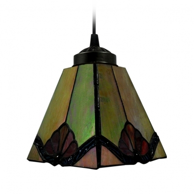 Excellent Best Stained Glass Mini Pendant Lights With Regard To Tawny Tiffany Art Stained Glass Style Mini Pendant Light In Square (View 3 of 25)
