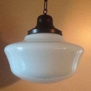 Excellent Brand New Milk Glass Pendant Lights With Regard To Best Milk Glass Pendant Products On Wanelo (Image 6 of 25)