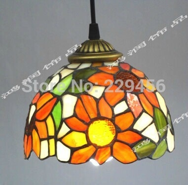 Excellent Brand New Stained Glass Pendant Light Patterns Pertaining To Aliexpress Buy Tiffany Stained Glass Lampshade Pendant Light (View 21 of 25)