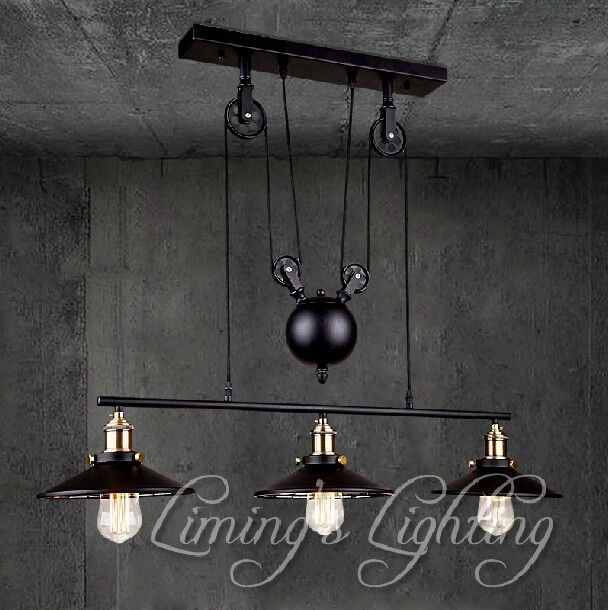 Excellent Common Adjustable Pulley Pendant Lights Pertaining To Popular Pulley Pendant Light Buy Cheap Pulley Pendant Light Lots (Image 6 of 25)