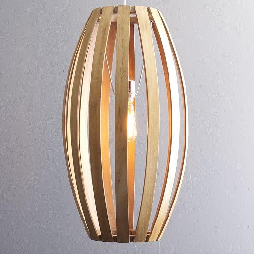 Excellent Deluxe Bent Wood Pendant Lights Pertaining To Bentwood Pendants West Elm (View 5 of 25)