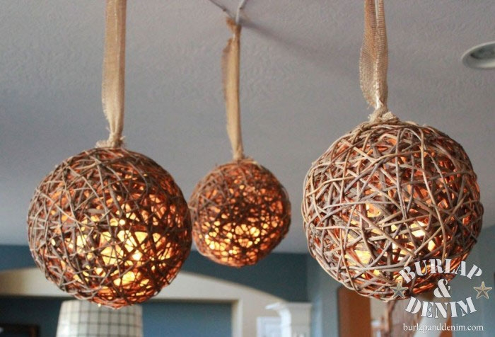 Excellent Deluxe Rattan Pendant Light Fixtures For Rattan Ball Pendant Lights Burlap Denimburlap Denim (Image 11 of 25)