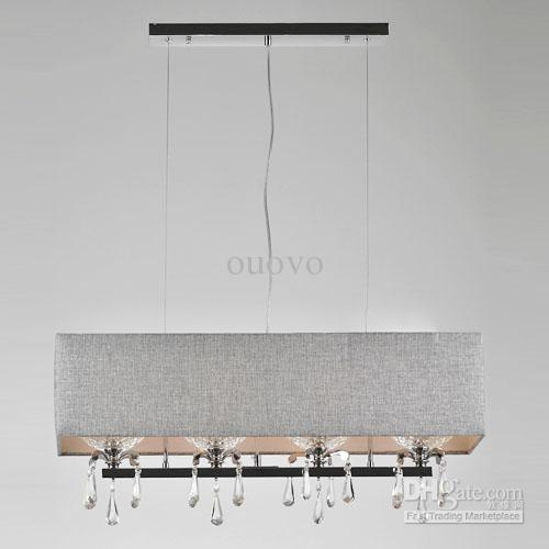 Excellent Elite Rectangular Drum Pendant Lights Regarding Cool Rectangular Pendant Light Linen Rectangular Pendant Pottery (Image 6 of 25)