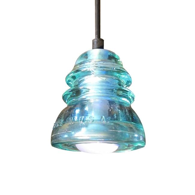 Excellent Famous Aqua Pendant Light Fixtures In Insulatorlight Pendant Original Aqua 4 Railroadware (Image 6 of 25)
