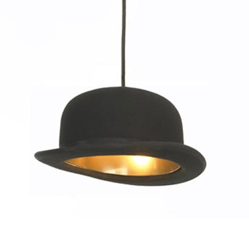 Excellent Famous Jeeves And Wooster Pendant Lights Pertaining To Jeeves And Wooster Authentic Bowler And Top Hat Pendant Lights (Image 8 of 25)