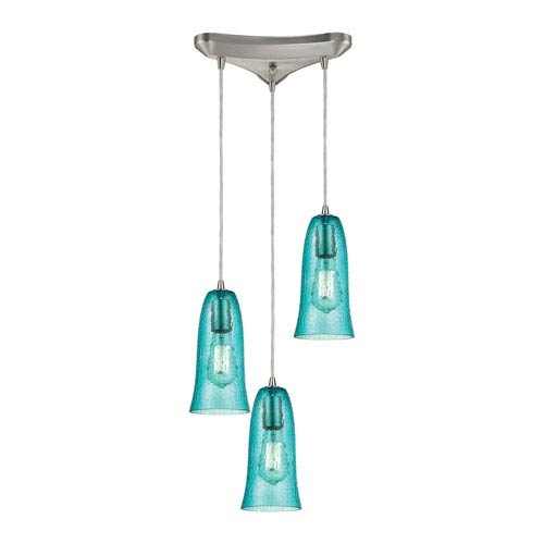 Excellent Fashionable Aqua Glass Pendant Lights Within Aqua Glass Pendant Lighting Bellacor (Image 3 of 25)