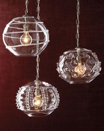 Excellent Fashionable Hand Blown Glass Pendant Lights Regarding Pendant Lights Neiman Marcus (Image 7 of 25)