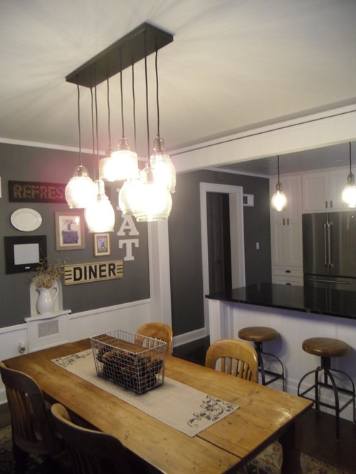 Excellent Fashionable Paxton Glass 3 Pendant Lights Throughout Finally My Kitchen Reveal (Image 8 of 25)