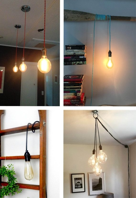 Excellent Favorite Coloured Cord Pendant Lights With Best 25 Plug In Pendant Light Ideas On Pinterest Edison (Image 9 of 25)