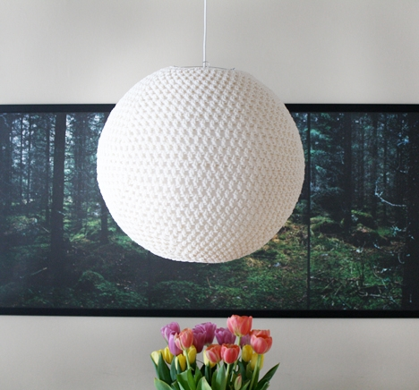 Excellent Favorite Diy Yarn Pendant Lights In Diy Crocheted Pendant Lamp The Diy Adventures (Image 4 of 25)