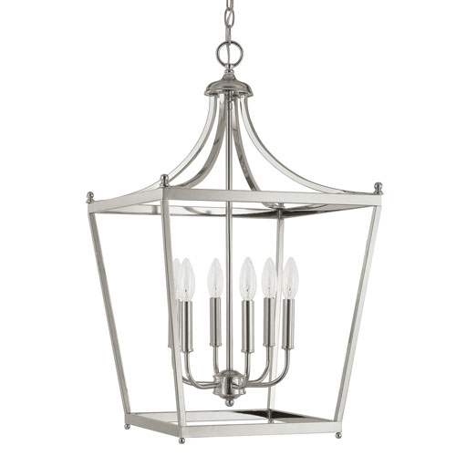 Excellent Favorite Octagon Pendant Lights Pertaining To Polished Nickel Pendant Lights Tequestadrum (Image 8 of 25)