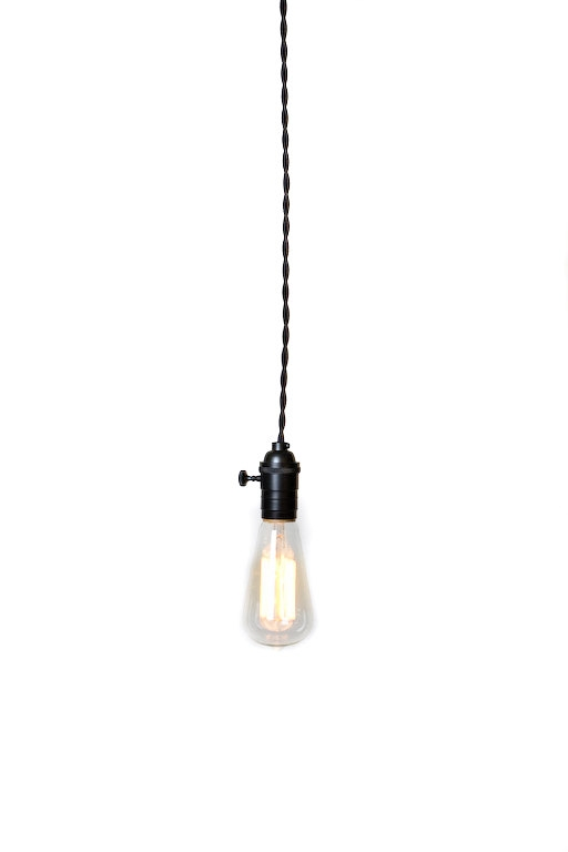 Excellent High Quality Bare Bulb Hanging Pendant Lights Throughout Industrial Bare Bulb Pendant Light Silver Pull Chain Socket (Image 8 of 25)