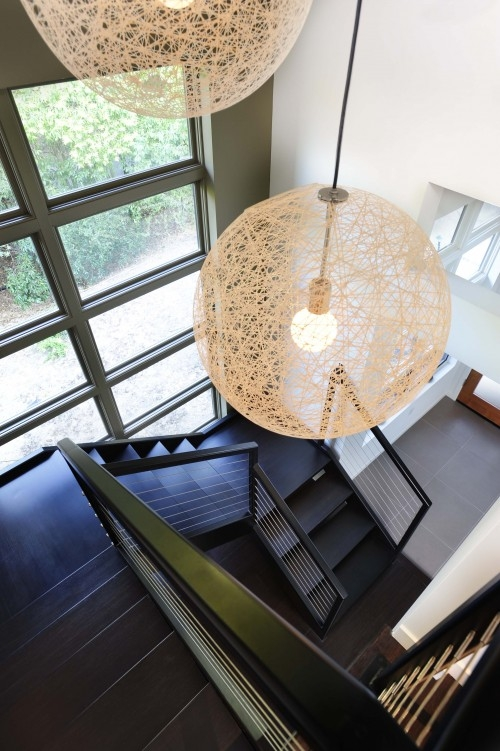 Excellent Latest Stairwell Pendant Lights With Interior Design Musings Stairwell Lighting (Image 6 of 25)