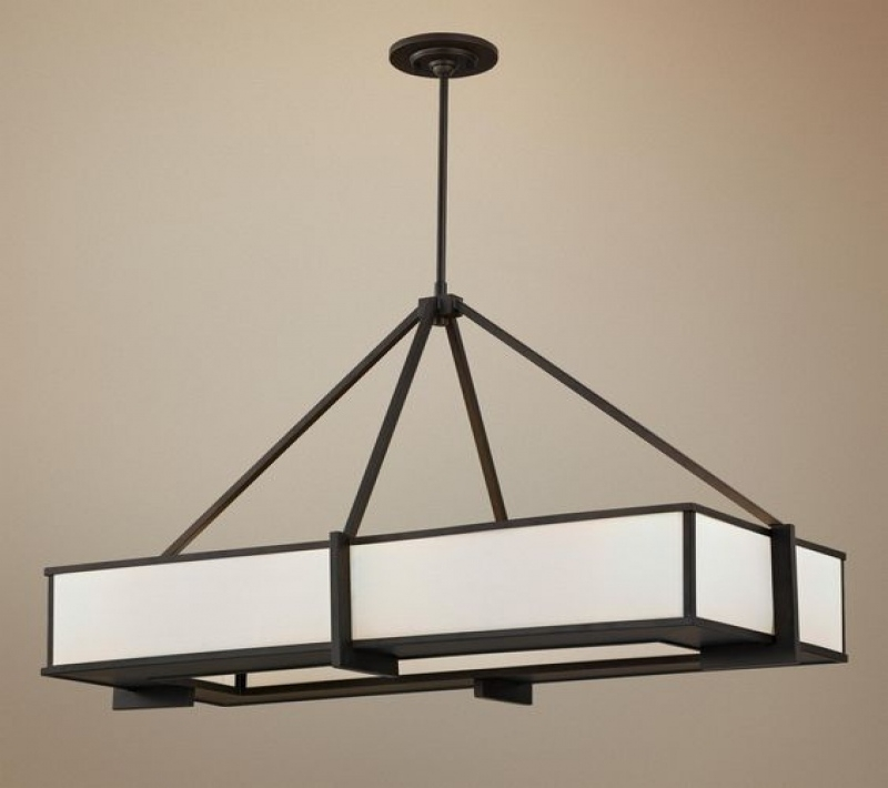 Excellent New Lamps Plus Pendants For Lighting Ceiling Fans Feiss Stelle Collection Rectangle Pendant (Image 12 of 25)