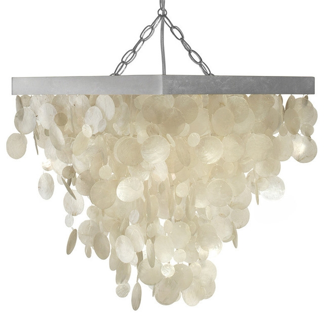 Excellent Popular Beachy Pendant Lights With Regard To Capiz Seashell Rain Drop Pendant Lamp Beach Style Pendant (Image 8 of 25)