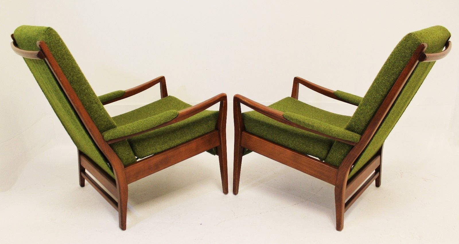 Excellent Popular Cintique Mid Century Armchairs Inside Mid Century Modern Pair Of Cintique Walnut Chairs English Larsen (Image 5 of 15)