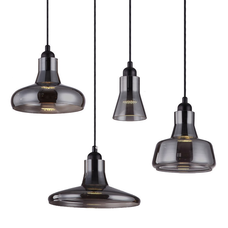 Excellent Popular Led Pendant Lights Pertaining To Black Tinted Glass Shade Led Pendant Light Uxui Designer (Image 9 of 25)