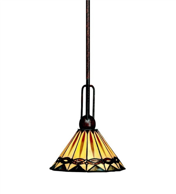 Excellent Popular Stained Glass Mini Pendant Lights With Mini Pendant Light Lamps Lighting Plow Hearth (Image 7 of 25)