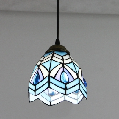 Excellent Series Of Stained Glass Mini Pendant Lights With Fashion Style Peacock Tiffany Lights Beautifulhalo (Image 9 of 25)