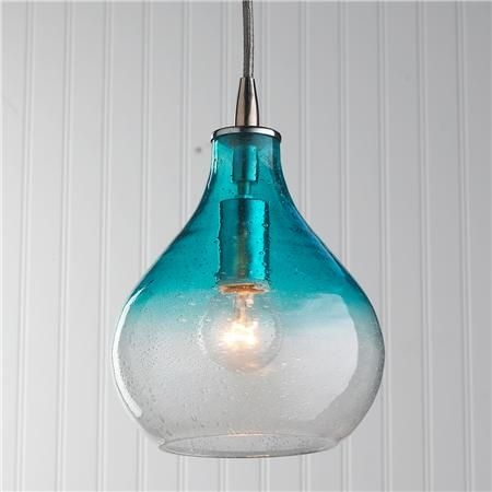 Excellent Series Of Turquoise Blue Glass Pendant Lights In 52 Best Blue Pendants For Kitchen Images On Pinterest (Image 13 of 25)