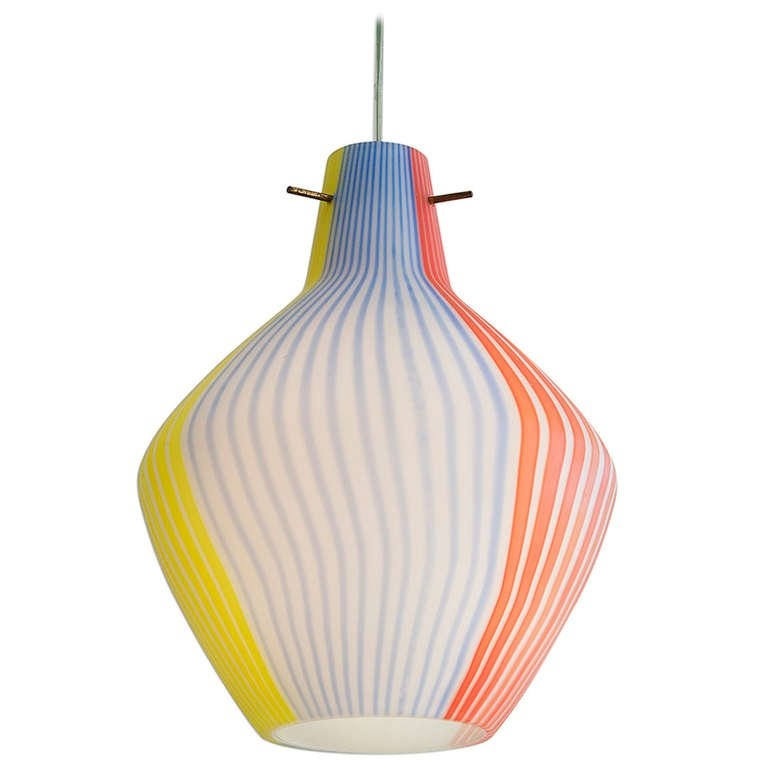 Excellent Top Murano Glass Pendant Lights Intended For Dino Martens Murano Glass Pendant Lamp At 1stdibs (Image 8 of 25)