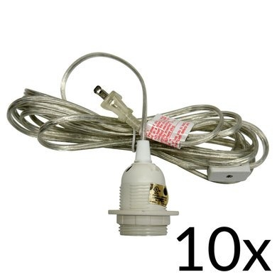 Excellent Top Pendant Light Extension Kits With Single Socket Pendant Light Cord Kit For Lanterns 15ft Ul Listed (Image 6 of 25)