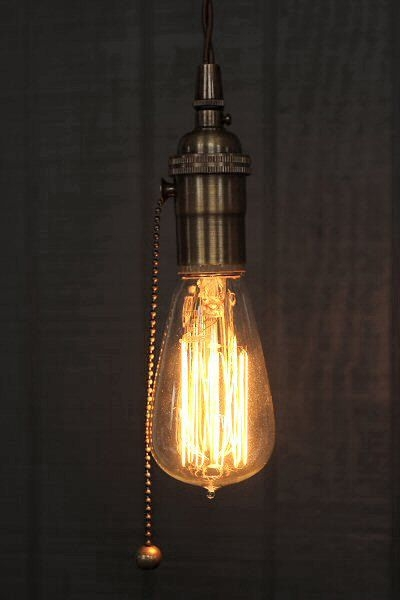 Excellent Top Three Light Bare Bulb Pendants In Best 25 Pull Chain Light Fixture Ideas On Pinterest Pull Cord (View 14 of 25)