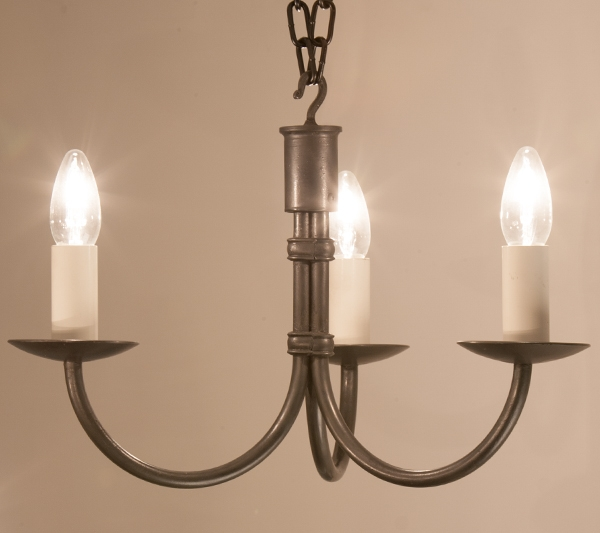 Excellent Top Wrought Iron Light Fittings Throughout Hartcliff Tiny 3 Light Wrought Iron Pendant Light Hartcliff (Image 11 of 25)