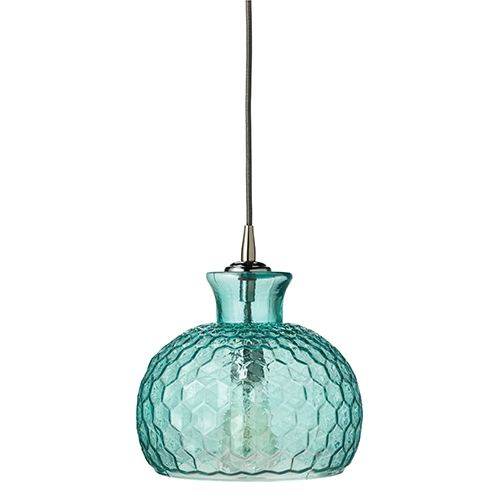 Excellent Trendy Aqua Pendant Light Fixtures Inside Blue Mini Pendant Lighting Bellacor (Image 8 of 25)