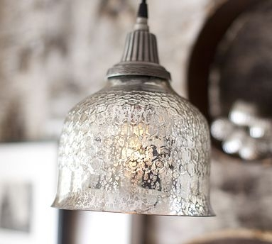 Excellent Trendy Cracked Glass Pendant Lights Throughout Mercury Glass Faux Sho Tutorial (Image 6 of 25)