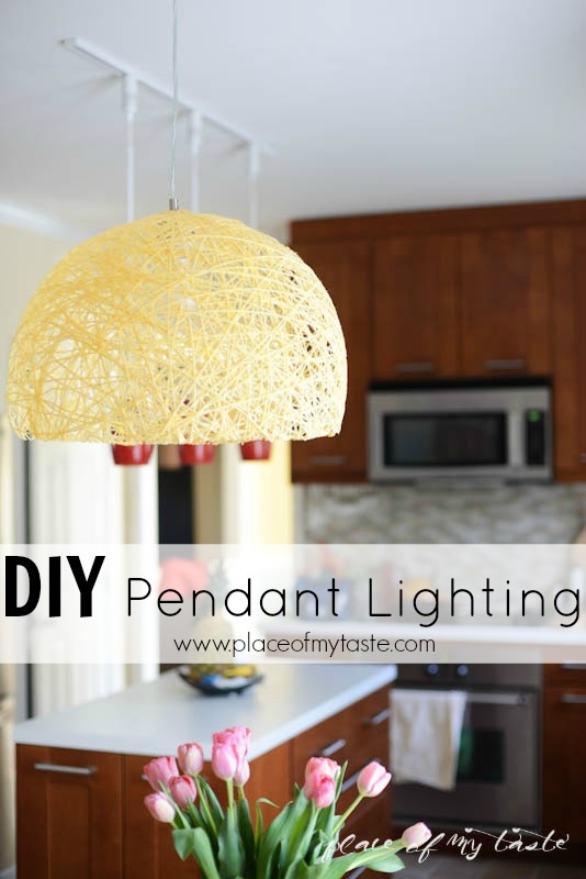 Excellent Trendy Diy Yarn Pendant Lights Within Diy Pendant Light With Super Bright Led Bulb Place Of My Taste (Image 5 of 25)