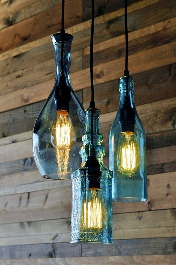 Excellent Trendy Wine Bottle Pendant Lights Regarding Best 25 Wine Bottle Chandelier Ideas On Pinterest Bottle (View 24 of 25)