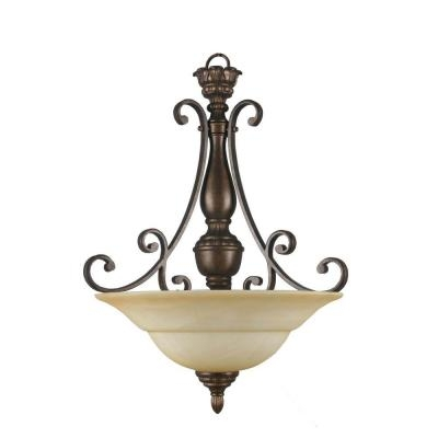 Excellent Unique Hampton Bay Pendants With Hampton Bay Carina 3 Light Aged Bronze Pendant 15672 The Home Depot (Image 8 of 25)