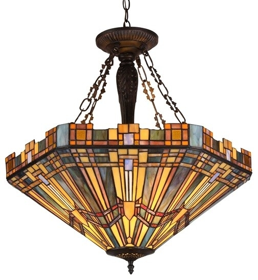 Excellent Unique Mission Style Pendant Lighting In Tiffany Style Mission Inverted Pendantceiling Fixture Craftsman (Image 9 of 25)